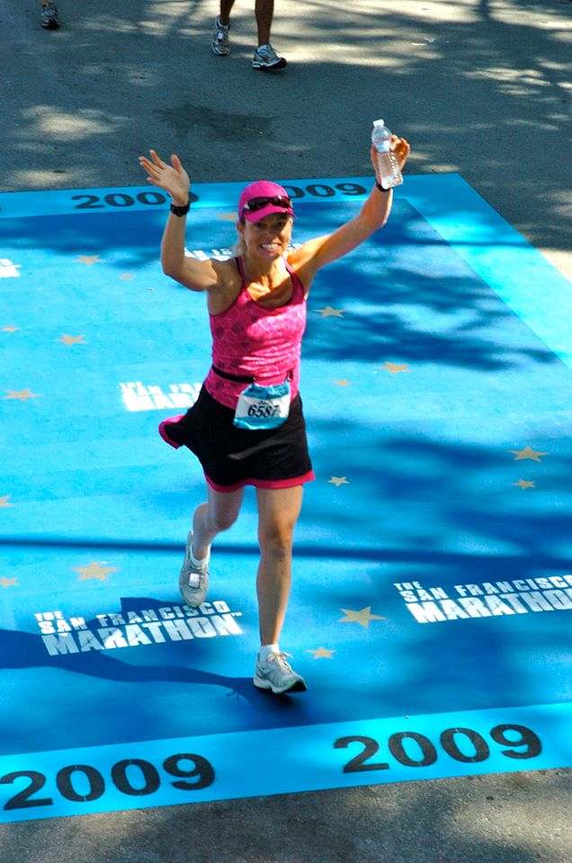 Crossing the finish line in 2009, my first San Francisco Marathon!