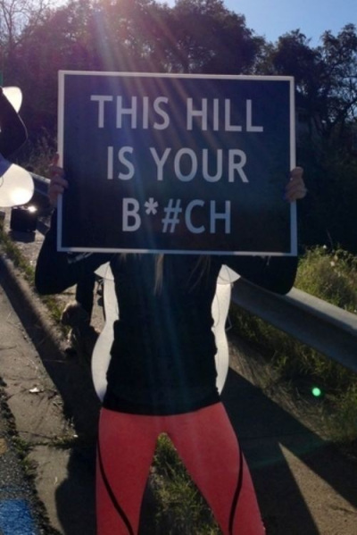 No Joke, I say this to myself at the base of every hill I run. It works!